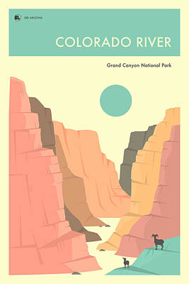Grand Canyon Digital Art - Grand Canyon National Park Poster by Jazzberry Blue