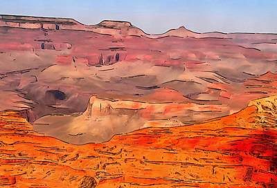 Grand Canyon Digital Art - Grand Canyon National Park Summer by Dan Sproul