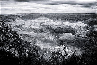 Photograph - Grand Canyon No. 2 - Bw by Belinda Greb