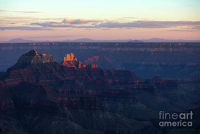Photograph - Grand Canyon North Rim At Sunset by Diane Diederich