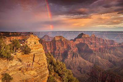 Grand Canyon North Rim Rainbow Art Print