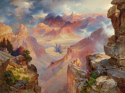 Grand Canyon Of Arizona Painting - Grand Canyon Of Arizona At Sunset by Thomas Moran