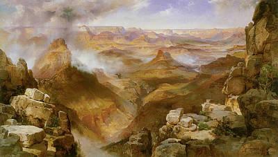 The Grand Canyon Painting - Grand Canyon Of The Colorado by Thomas Moran