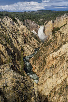 Grand Canyon Of The Yellowstone And Yellowstone Falls Art Print