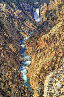 Photograph - Grand Canyon Of The Yellowstone by Edward Fielding