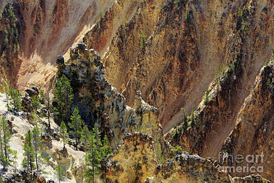 Grand Canyon Of The Yellowstone From North Rim Drive Art Print by Louise Heusinkveld