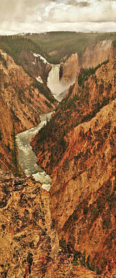 Photograph - Grand Canyon Of The Yellowstone Vertical Panorama by Greg Norrell