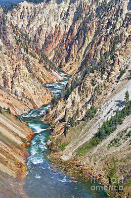 Photograph - Grand Canyon Of Yellowstone by Delphimages Photo Creations