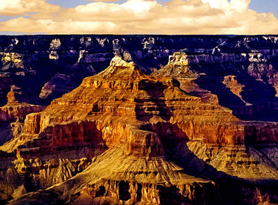 Painting - Grand Canyon Painting Sunset by Bob and Nadine Johnston
