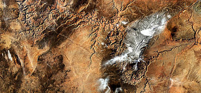 Photograph - Grand Canyon Panorama From Iss Enhanced by Weston Westmoreland