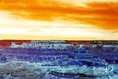 Photograph - Grand Canyon Pop Art by John Rizzuto