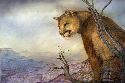 Painting - Grand Canyon Puma by Roy Kastning