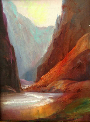 River Rafting Painting - Grand Canyon Rafting by Sally Seago
