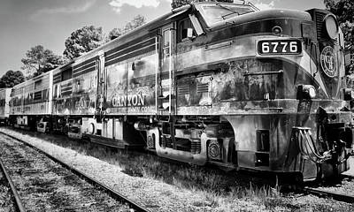 Photograph - Grand Canyon Railway In Arizona Usa - Black And White by Gregory Ballos
