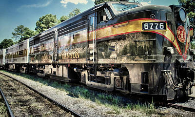 Photograph - Grand Canyon Railway In Arizona Usa - Color by Gregory Ballos