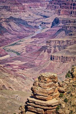 Photograph - Grand Canyon River View by Joe Myeress