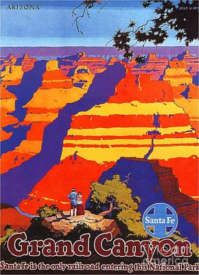 Painting - Grand Canyon - Santa Fe by Roberto Prusso