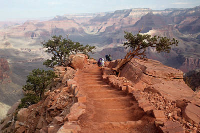 South Kaibab Trail Photograph - Grand Canyon - South Kaibab Trail by Rich Sirko