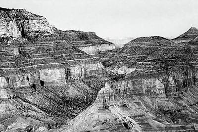 Photograph - Grand Canyon South Rim 21 Bw by Mary Bedy