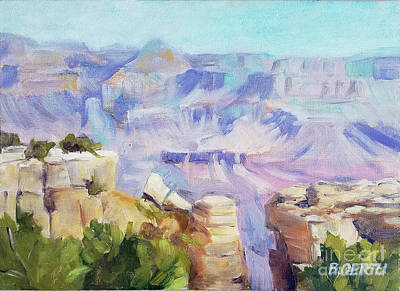 Painting - Grand Canyon, South Rim by Barbara Oertli