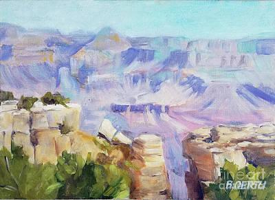 Painting - Grand Canyon, South Rim by Barbara Oertli