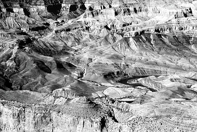 Photograph - Grand Canyon South Rim Colors Bw by Mary Bedy