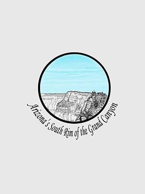 Grand Canyon Drawing - Grand Canyon - South Rim by James Lewis Hamilton