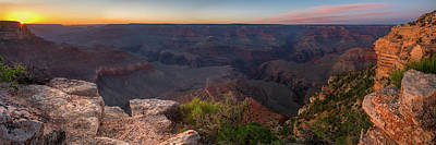 Photograph - Grand Canyon South Rim Sunset by Chris Whiton