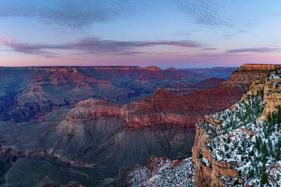 Photograph - Grand Canyon - South Rim Twilight by Shuwen Wu