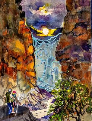 Painting -  Grand Canyon  Splendor by Esther Woods