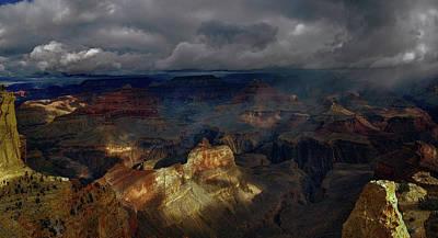 Digital Art - Grand Canyon Storm by OLena Art Brand