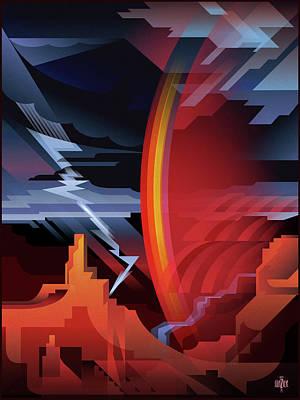 Grand Canyon Storm Of Pima Point Art Print