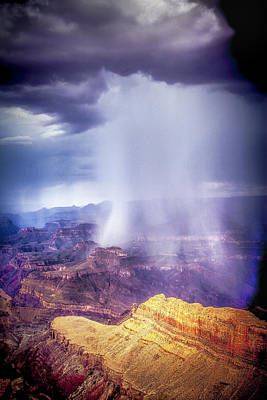 Photograph - Grand Canyon Summer Storm by James Bethanis