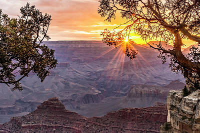 Grand Canyon Photograph - Grand Canyon Sunrise From Mather Point by Jan and Burt Williams