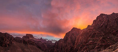 Red Roses - Grand Canyon Sunrise by James Sibert
