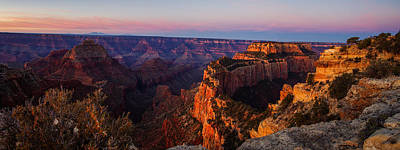 Wonders Of The World Photograph - Grand Canyon Sunrise Panoramic by Scott McGuire