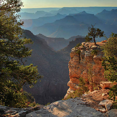 Photograph - Grand Canyon Sunset - Arizona - Square Format by Gregory Ballos