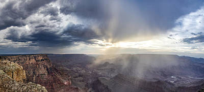 Photograph - Grand Canyon Sunset Heading Into The Light  by John McGraw