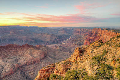 Photograph - Grand Canyon Sunset by Ray Devlin