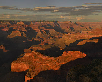 Photograph - Grand Canyon Sunset Panorama by Stephen  Vecchiotti