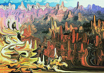 Painting - Grand Canyon Symphony - Modern Art by Art America Gallery Peter Potter