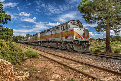 Photograph - Grand Canyon Train 7r2_dsc2008_08152017 by Greg Kluempers