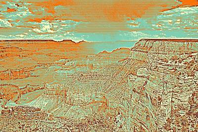 Park Scene Painting - Grand Canyon Travel Poster by Celestial Images