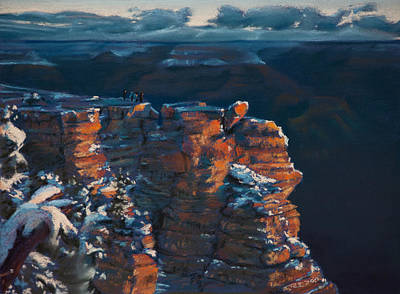 Pastel - Grand Canyon View by Christopher Reid