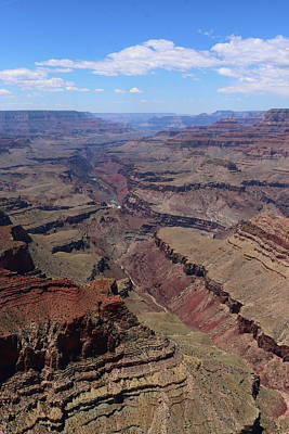 Photograph - Grand Canyon View With Colorado River by Christiane Schulze Art And Photography