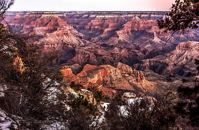 South Kaibab Trail Photograph - Grand Canyon Winter Sunrise Landscape At Yaki Point by Brian Tada