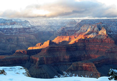 Photograph - Grand Canyon With Snow by Laurel Powell