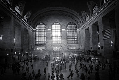Photograph - Grand Central Monochrome  by Jessica Jenney