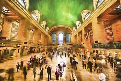 Photograph - Grand Central Rush     Go2 by Ray Warren