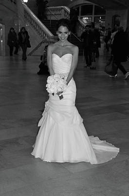 Photograph - Grand Central Station Bride by Mike Martin